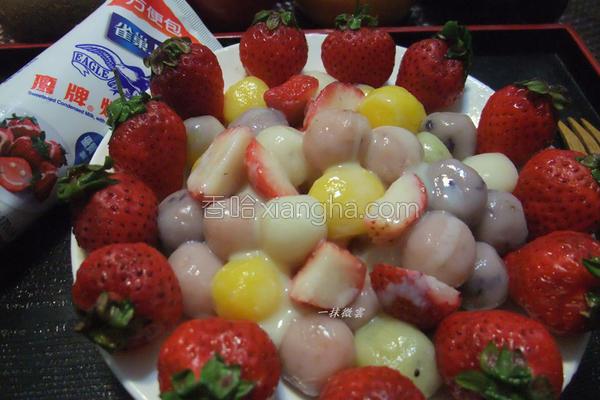 水果汤圆的做法