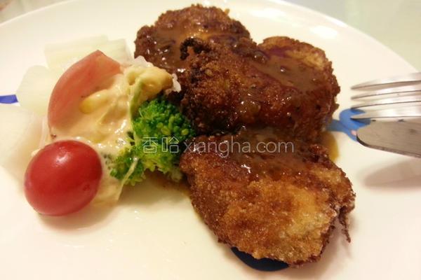 猴头菇排餐的做法