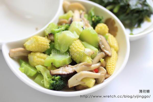 炒青花菜梗的做法