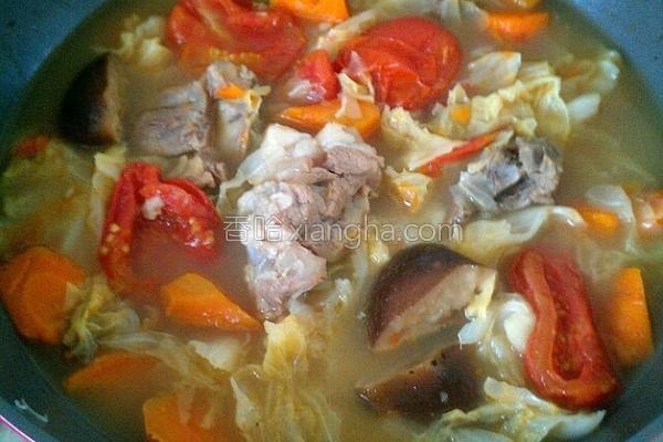 白菜萝卜汤的做法