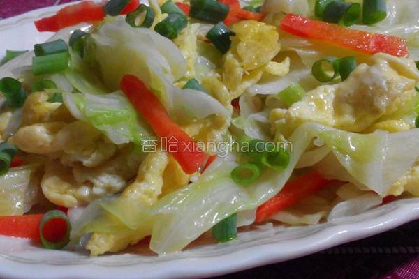 高丽菜炒蛋的做法