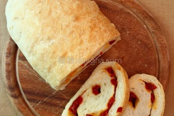 油渍番茄干面包的做法