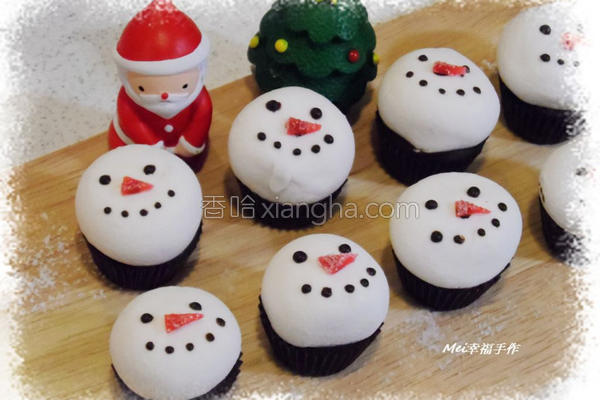 雪人棉花糖巧克力的做法