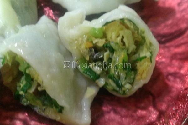 花素饺子的做法
