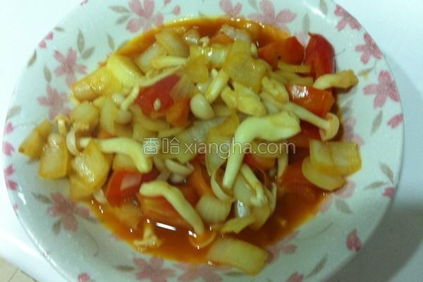 茄汁雪白菇的做法