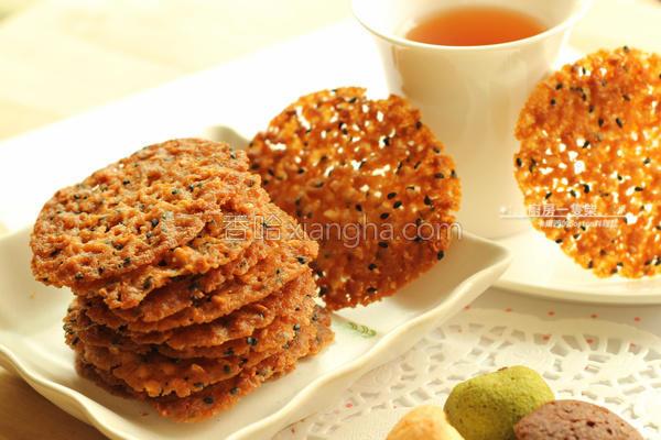 杏仁芝麻蕾丝脆饼的做法