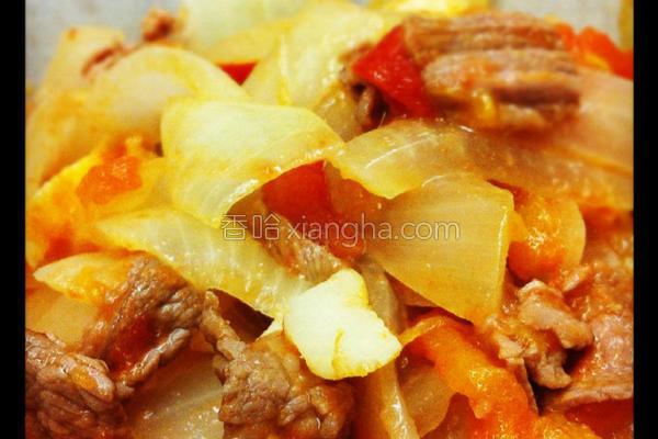洋葱番茄炒牛肉的做法