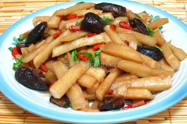蚝油焖竹笋的做法