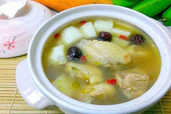 山药红枣鸡汤的做法