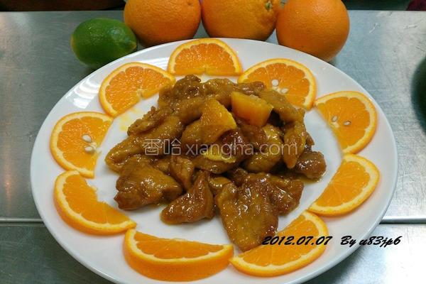 橙汁酱里脊的做法