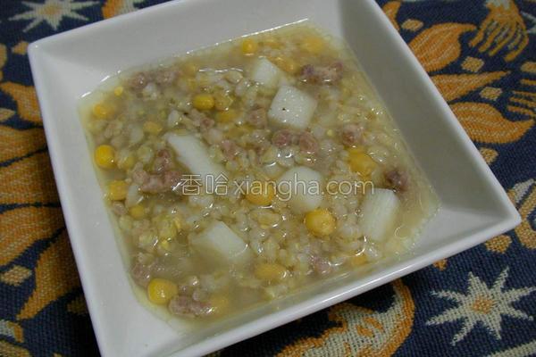 疗癒系山药玉米粥的做法