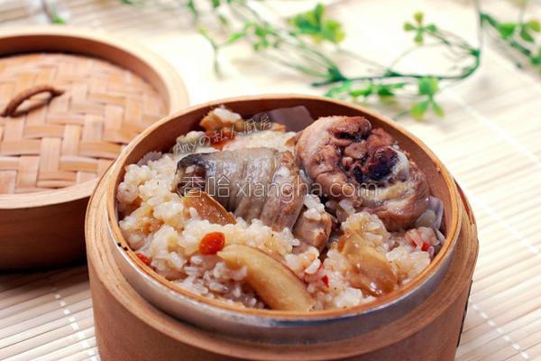 麻油鸡糯米饭的做法