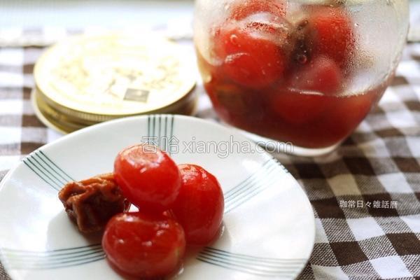 蜂蜜柠檬梅渍番茄的做法