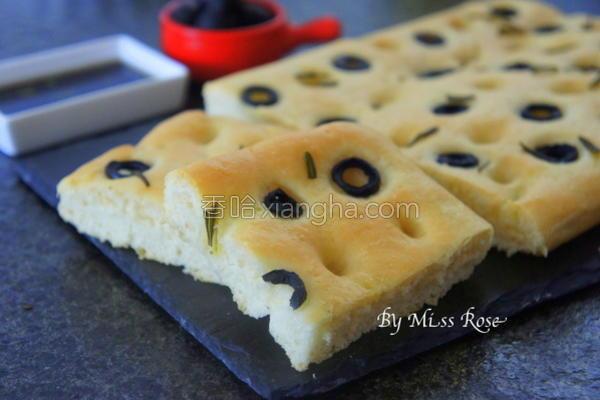 香草弗卡夏面包的做法