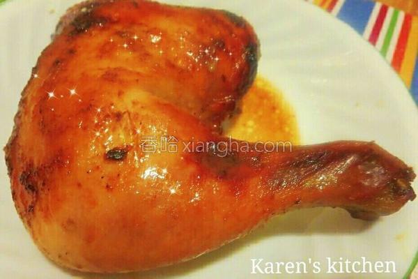 玫瑰虾酱烤鸡的做法