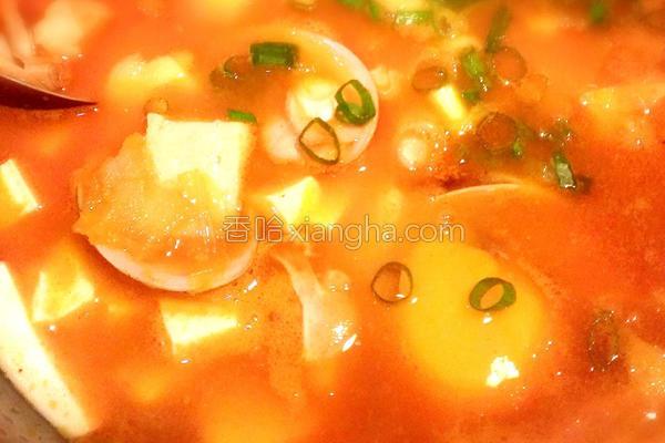 韩式辣豆腐锅的做法