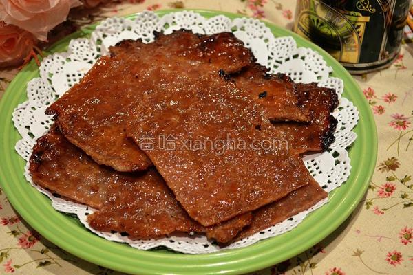 蜜汁烤猪肉干的做法