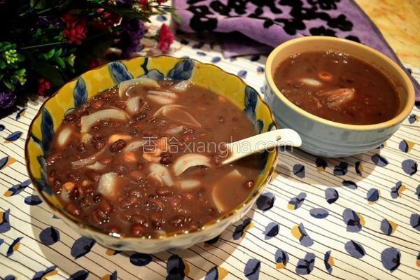 莲子百合红豆甜汤的做法