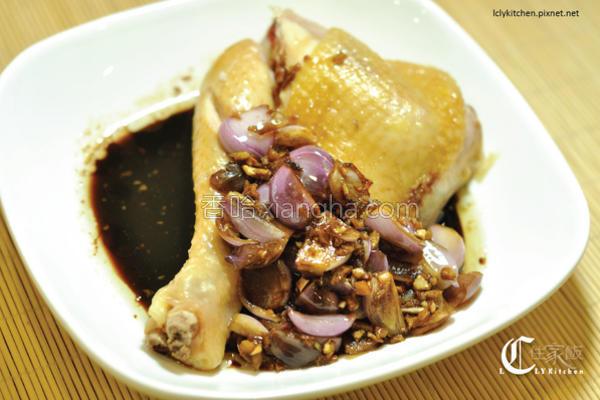 清蒸葱油鸡的做法
