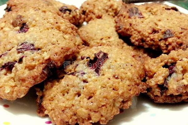 洛神花燕麦饼干的做法
