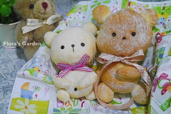 小熊面包的做法