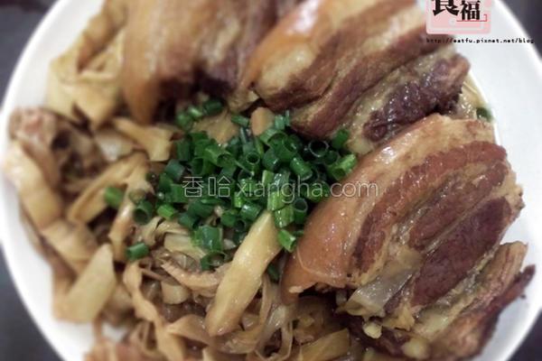 烹饪笋丝焢肉