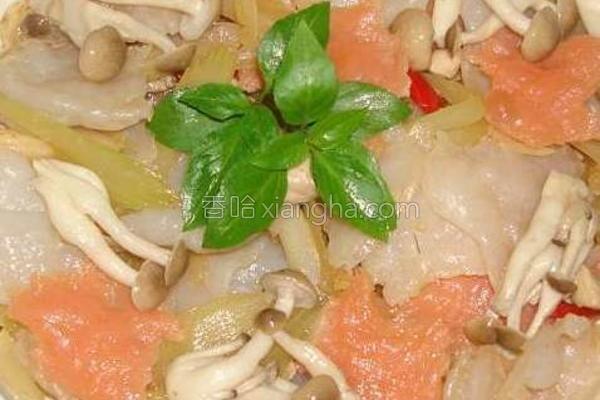 蒟落菇菇烩西芹的做法