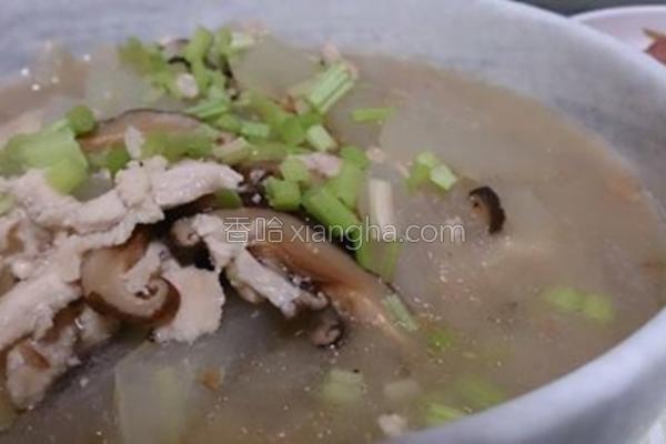 冬蓉鸡丝汤的做法