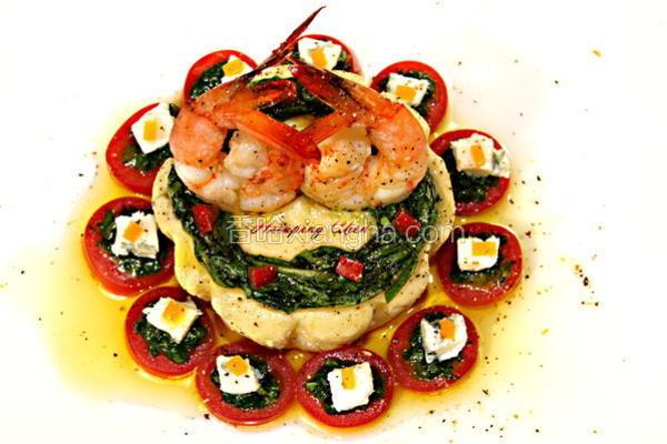 鲜虾蔬果布蕾