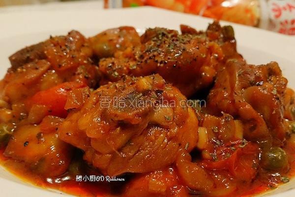番茄蘑菇炖鸡的做法