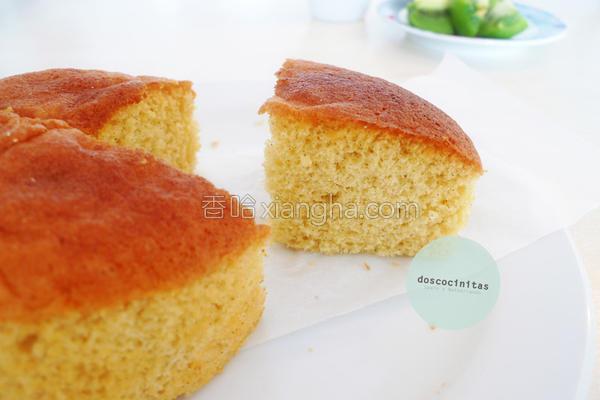低脂香草海绵蛋糕的做法
