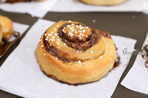 珍珠黑糖肉桂卷的做法