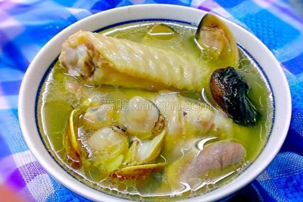 蛤蜊蒜头鸡汤的做法