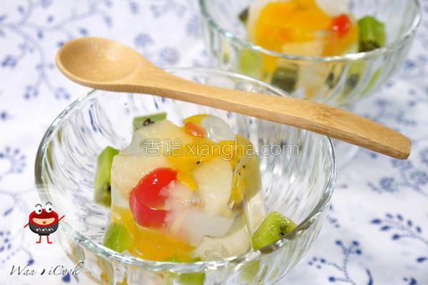 七彩缤纷水晶果冻的做法