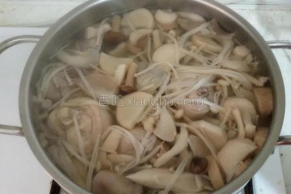 综合菇鸡汤的做法