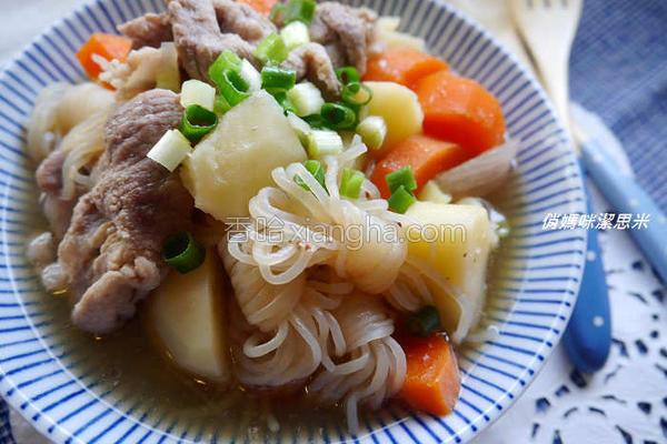 风马铃薯炖肉的做法