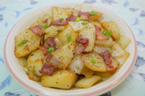 培根炒洋芋的做法