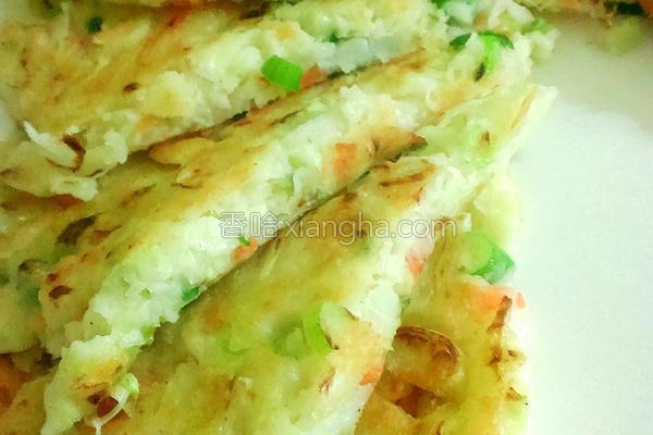 米粉蔬菜煎饼的做法