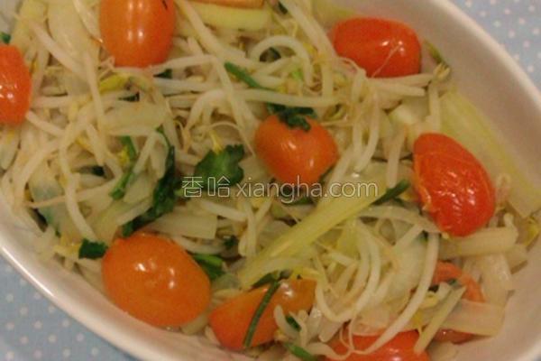 芹菜洋葱炒豆芽的做法