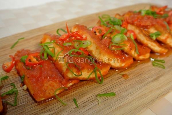 番茄红酱烧豆腐的做法