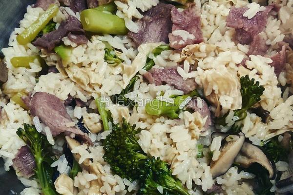 香菇培根菜饭的做法