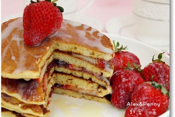草莓松饼叠叠乐的做法
