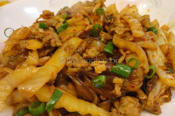 韩式泡菜炒粉条的做法