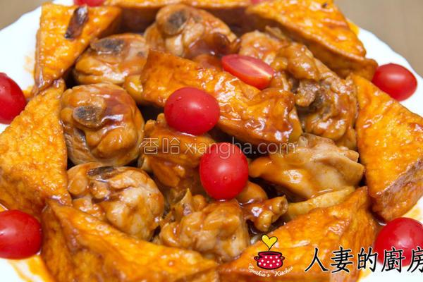 茄汁鸡肉烩豆腐的做法