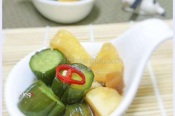 脆瓜渍黄瓜凤梨的做法
