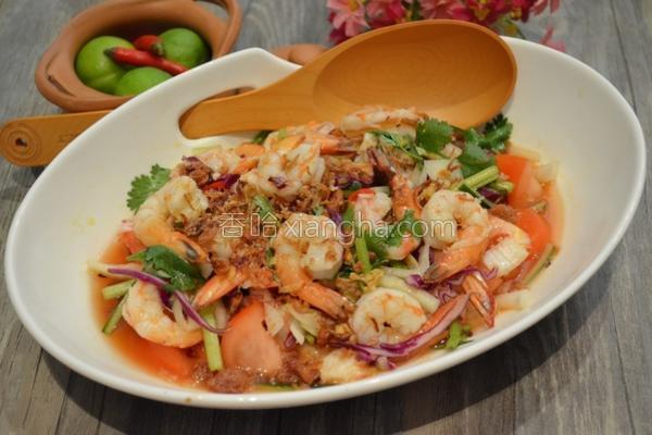 泰式凉拌酸辣虾的做法