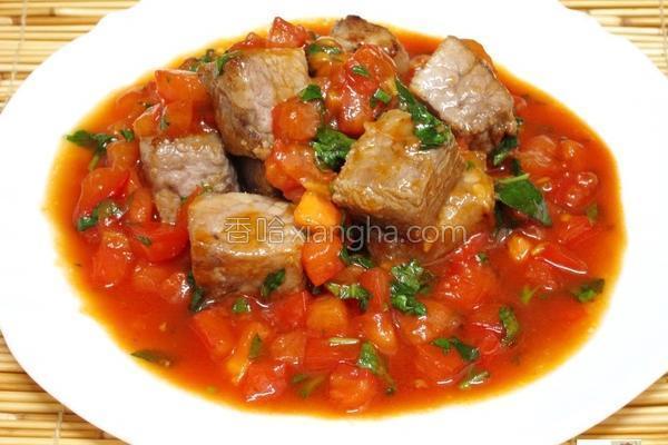 茄汁方块猪的做法