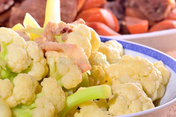 肉丝炒花椰菜的做法