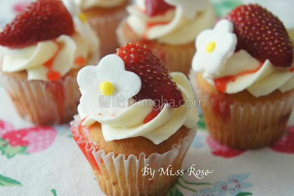 迷你草莓杯子蛋糕的做法