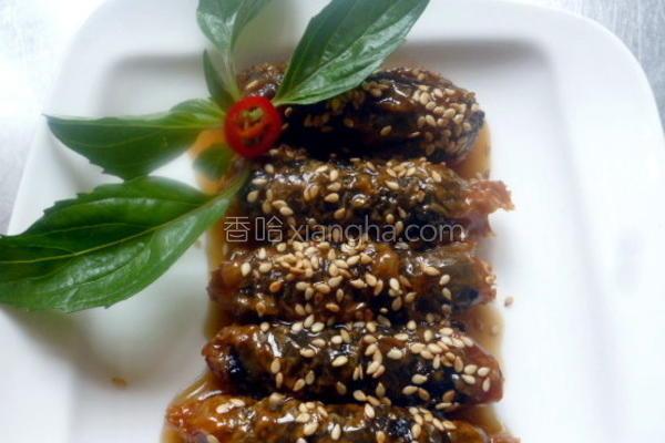 蜜汁海苔腐皮卷的做法